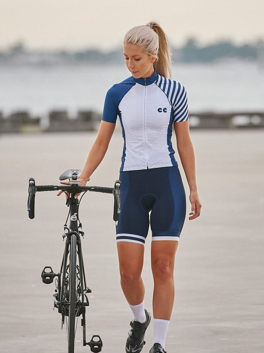 Breton Stripes Womens Cycling Kit- Cycling Couture