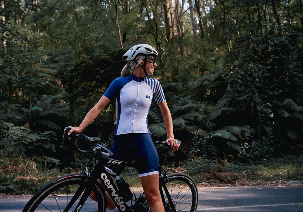 breton stripe womens cycling kit