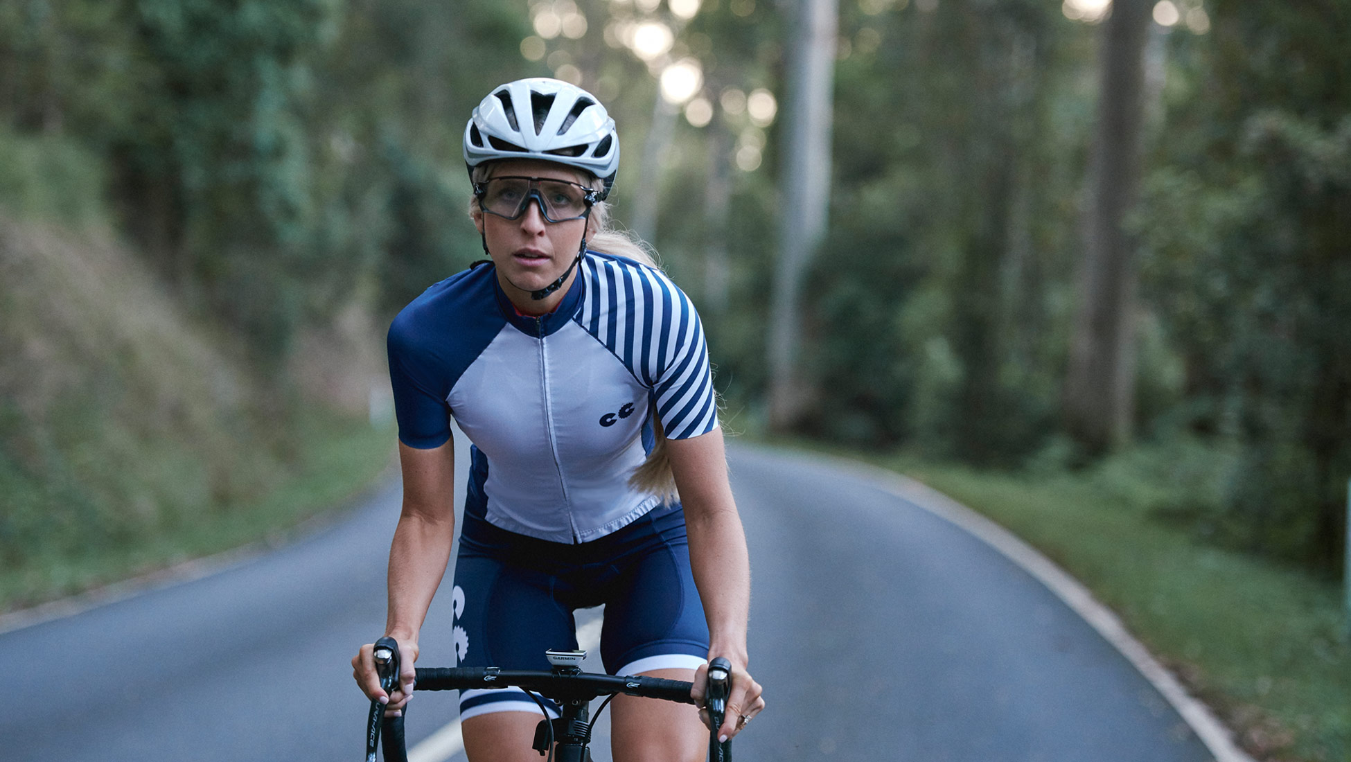 womens breton stripe cycling kit
