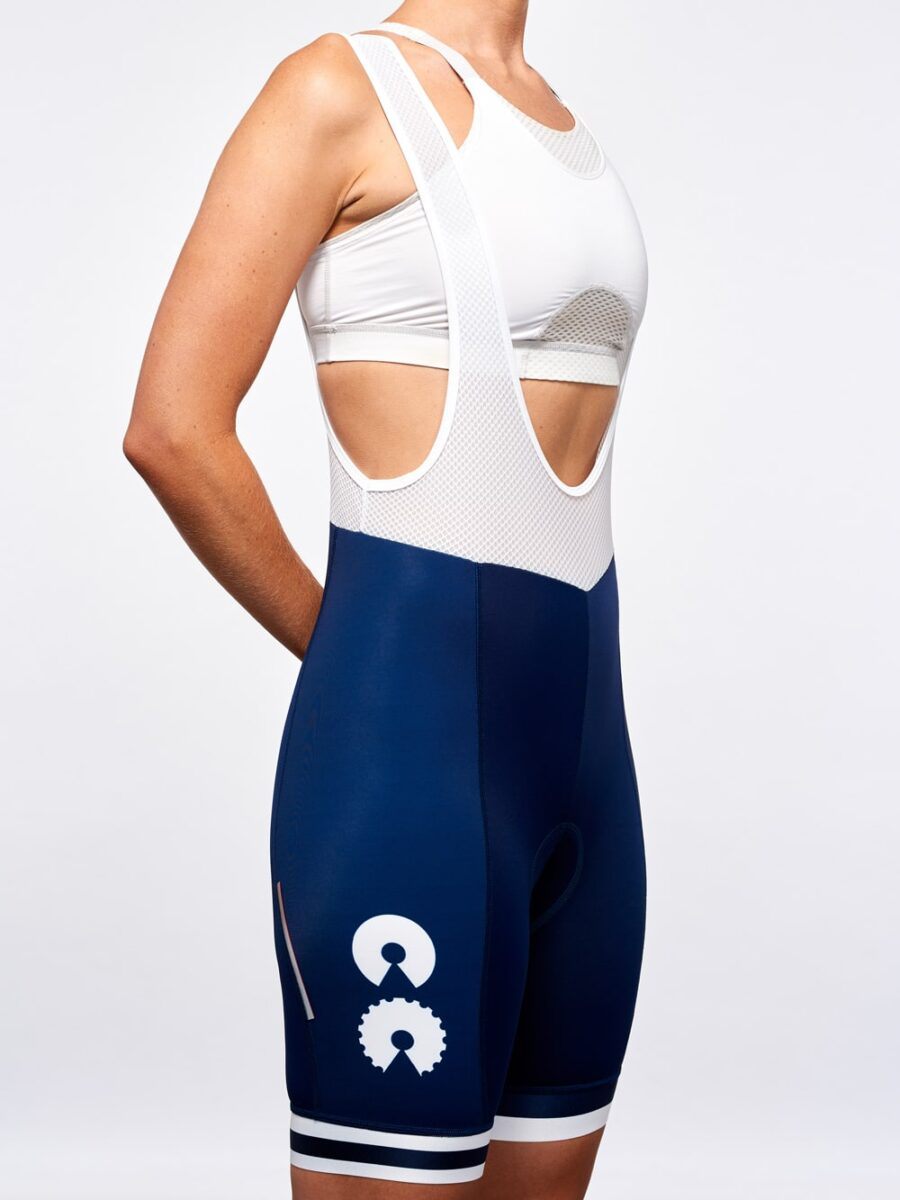 Cycling Apparel Womens Cycling Bibs Breton Stripe- Cycling Couture