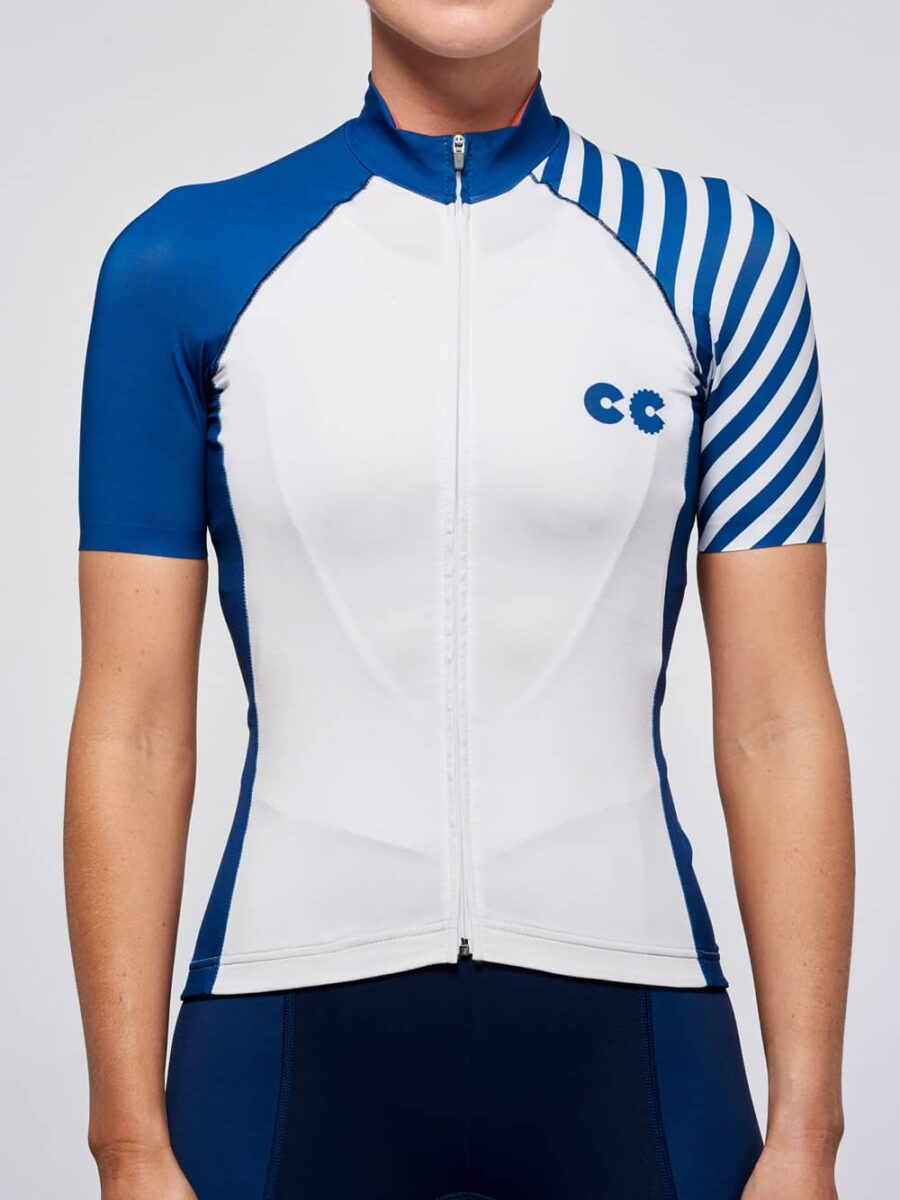 Cycling Apparel Womens Breton Stripe Cycling Jersey - Cycling Couture